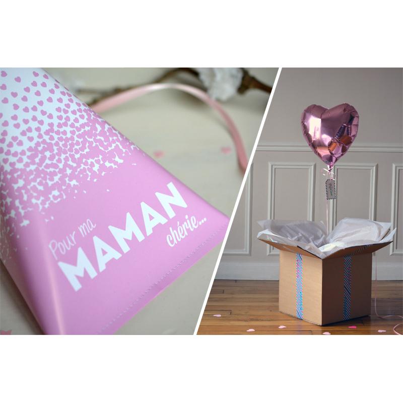 Combo Pochette Maman Chérie + Coeur Pastel