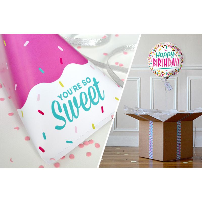 Combo Pochette You're So Sweet + Ballon HB Sprinkle