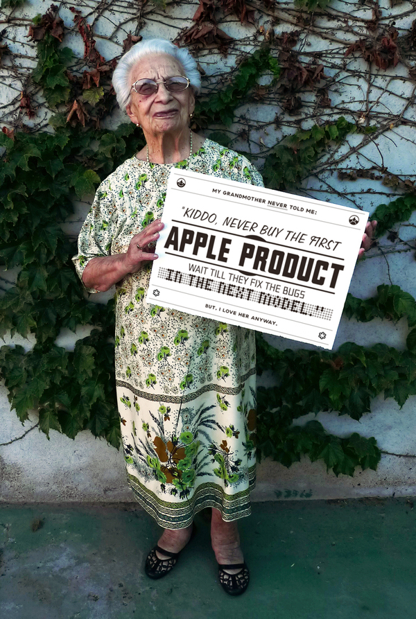 Grandmother Tips Apple