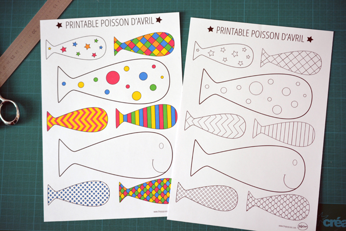 Printable - Poisson d'avril - The PopCase