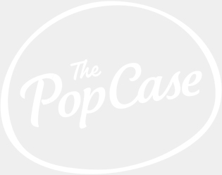 Logo Blanc Fond Transparent - The PopCase