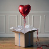 Ballon Cadeau Coeur Rouge - The PopCase
