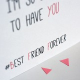 Carte Bijou - Best Friend Forevrer