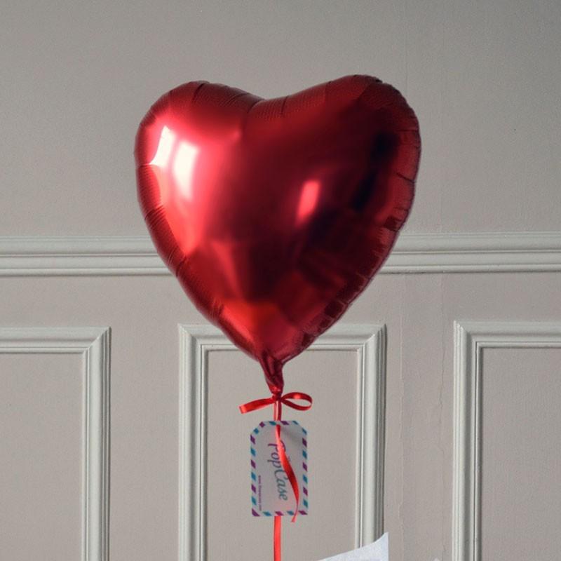 Ballon cadeau coeur rouge livraison d 39 un ballon gonfl l 39 h lium - Images avec des coeurs ...