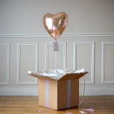 Ballon Cadeau Coeur Rose Gold - The PopCase