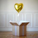 Ballon Cadeau Coeur Doré - The PopCase