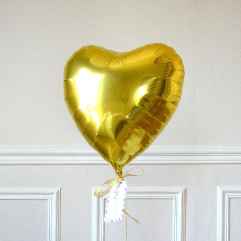 Ballon Cadeau Coeur Doré - GP - The PopCase