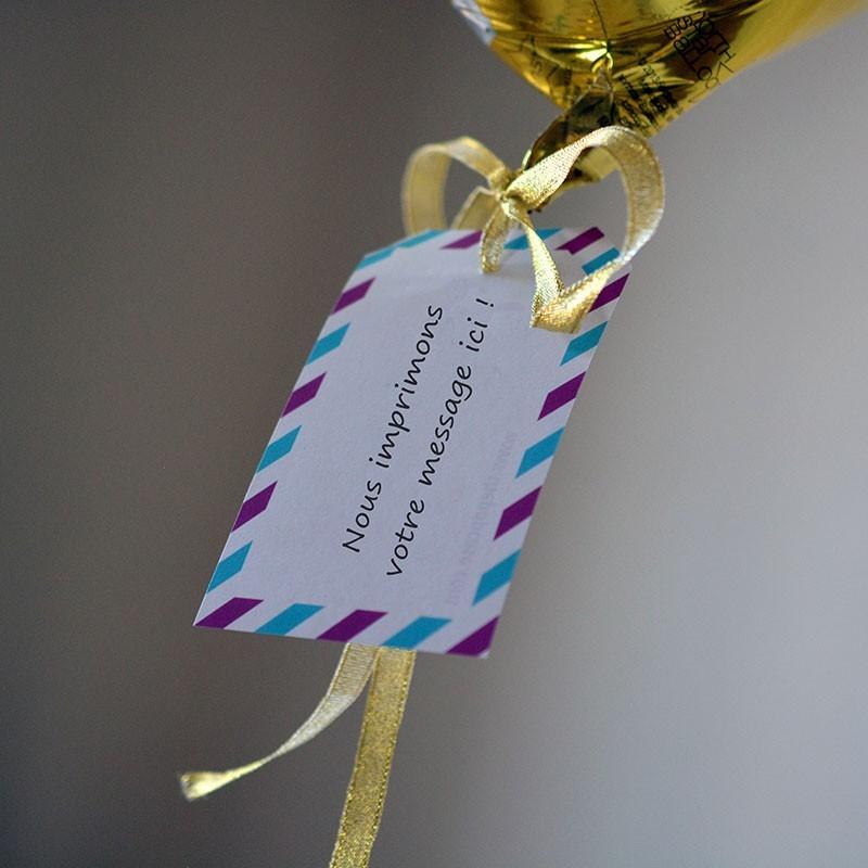 Ballon Cadeau Coeur Doré - Message - The PopCase