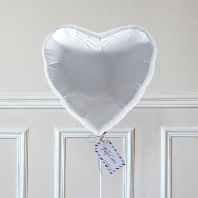 Ballon Cadeau Coeur Argent - The PopCase