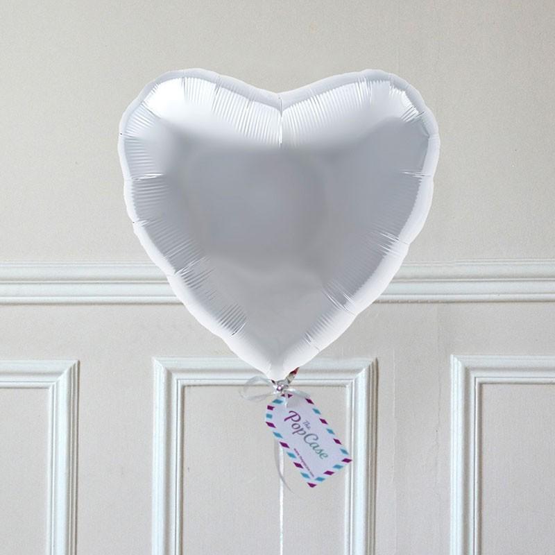 Ballon Cadeau - Coeur Argent