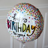 Ballon Cadeau - Happy Birthday MULTICO