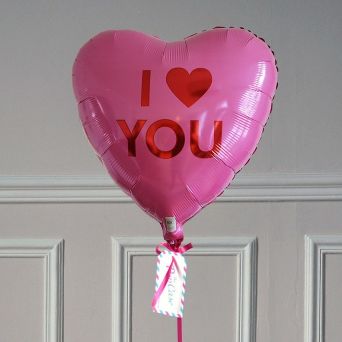 Ballon Cadeau - Coeur I Love You