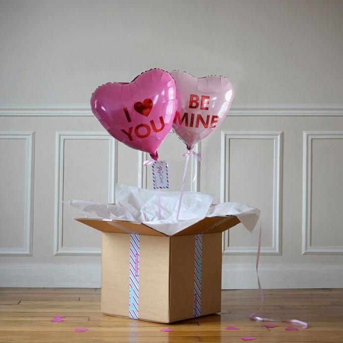 DUO Ballon Cadeau - Love Heart