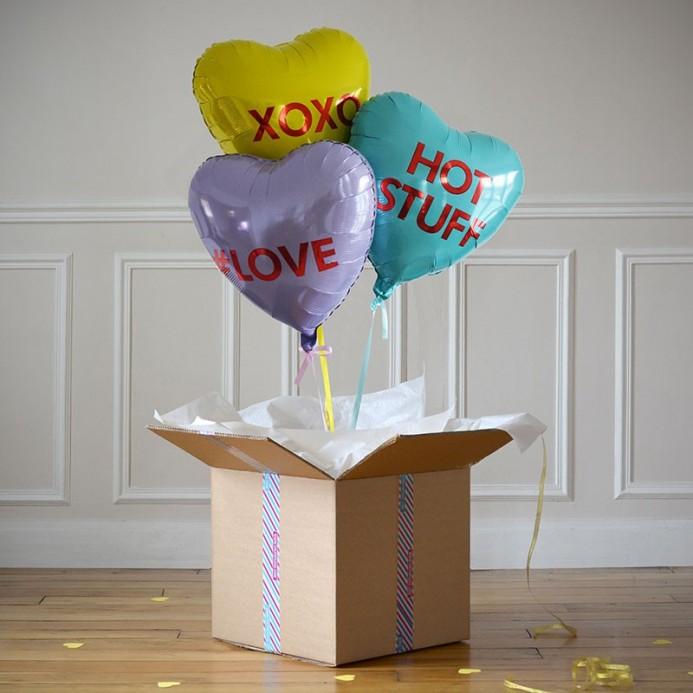 Ballon cadeau envoi cadeau avec ballon h lium the popcase for Bouquet cadeau