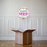 Ballon Cadeau - Happy Birthday sprinkles