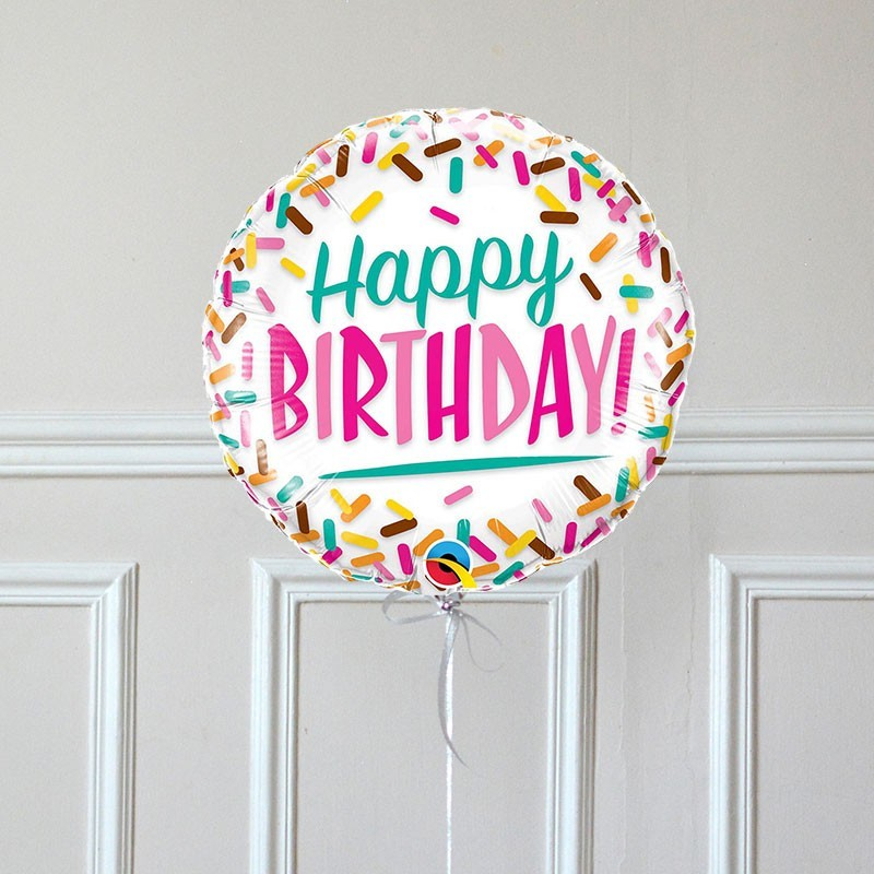 Ballon Cadeau Happy Birthday sprinkles - GP - The PopCase