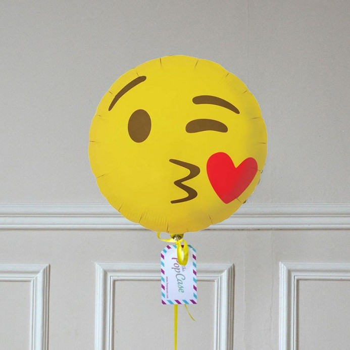 Ballon Cadeau - Emoji Bisou Coeur