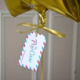 Ballon Cadeau Etoile Dorée - Message - The PopCase