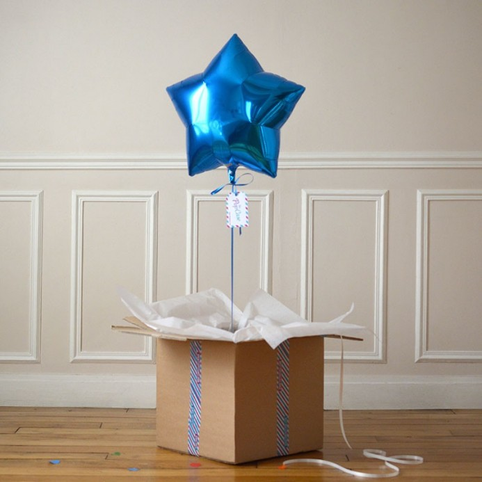 Ballon Cadeau Etoile Bleue - The PopCase