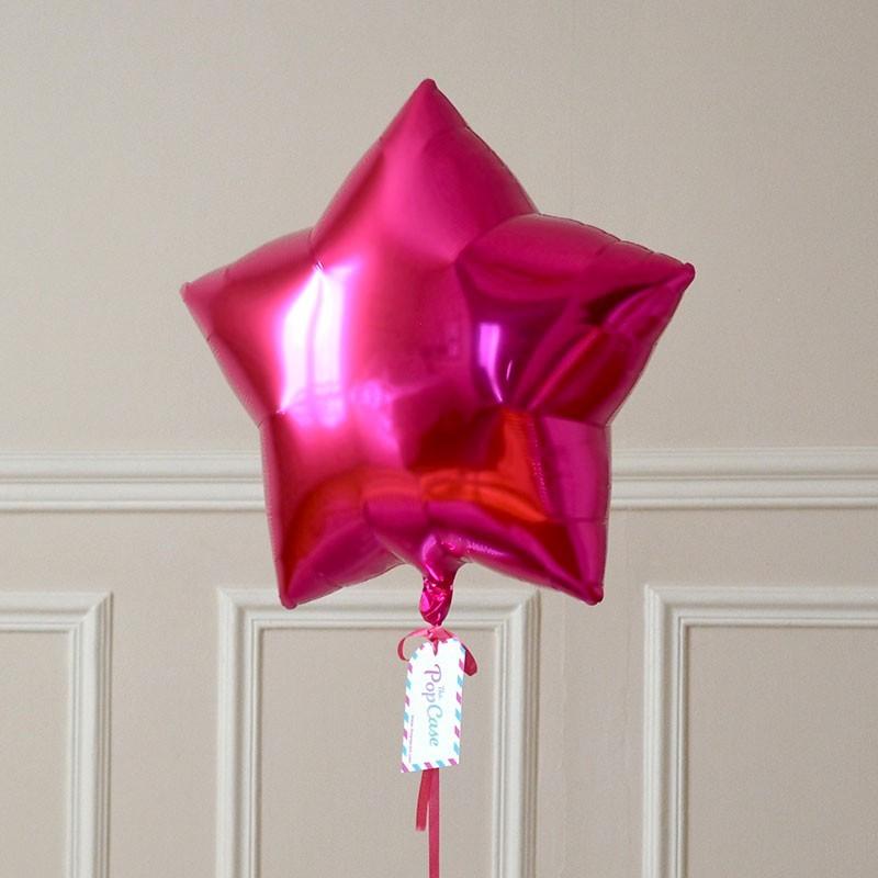 Ballon Cadeau - Etoile Rose
