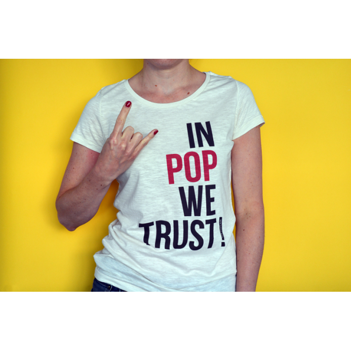 "T-Shirt ""In Pop We Trust"""