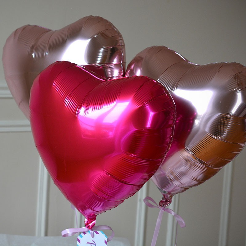 Bouquet Ballon Cadeau Coeur Rose - GP - The PopCase