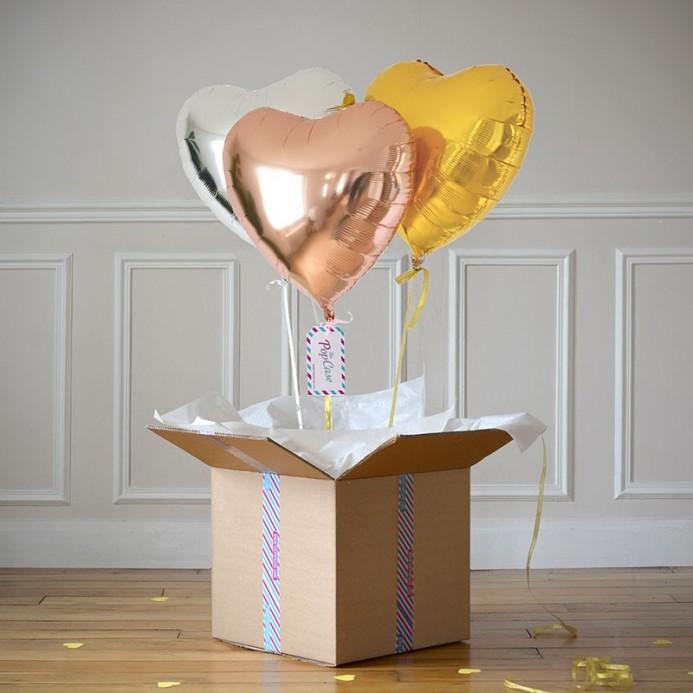 Bouquet Ballon Cadeau Trois Ors - The PopCase