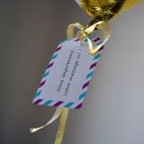 Bouquet Ballon Cadeau Trois Ors - Message - The PopCase