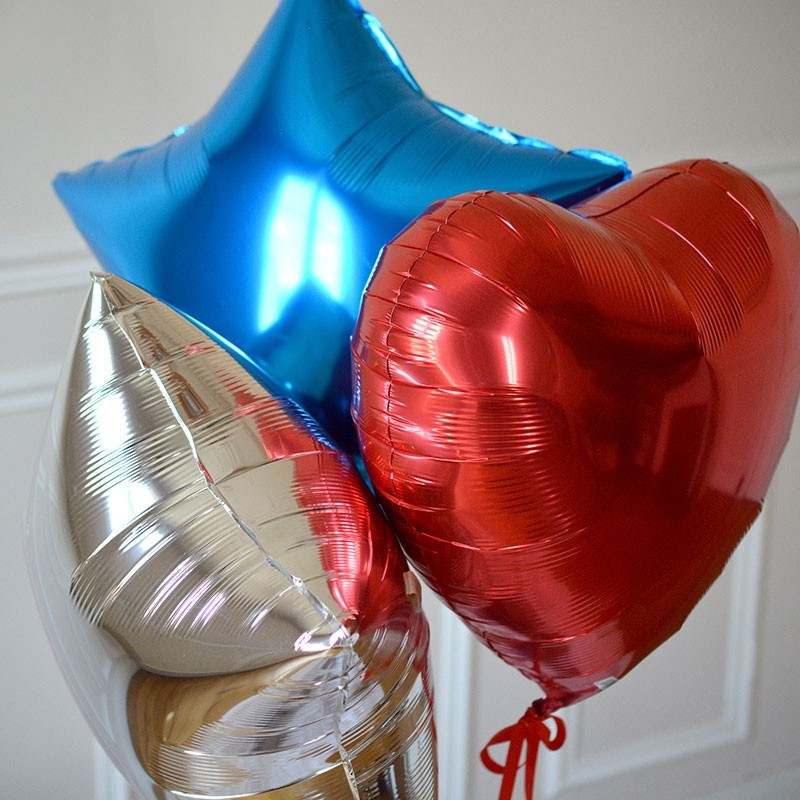 Bouquet Ballon Cadeau Bleu Blan Rouge - GP - The PopCase