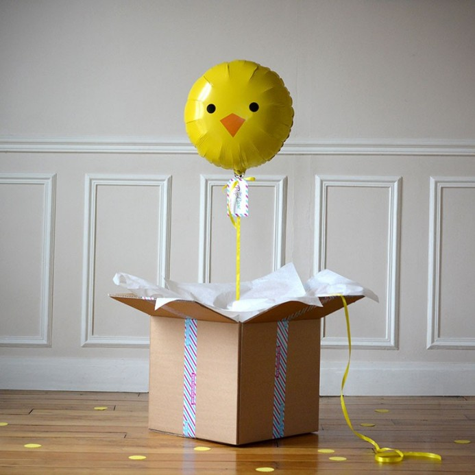 Ballon Cadeau Poussin - The PopCase