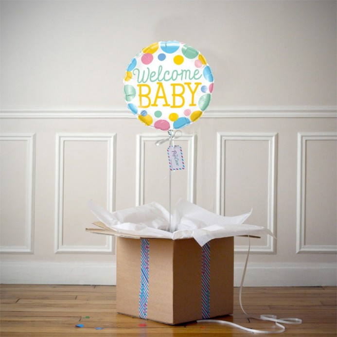 Ballon Cadeau - Welcome Baby