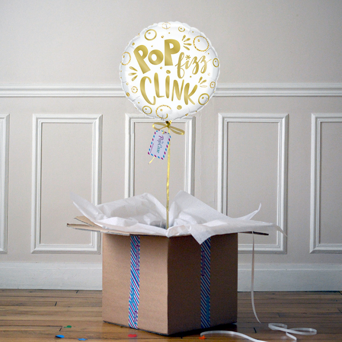 Ballon Cadeau Pop Fizz Clink - The Pop Case