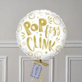 Ballon Cadeau Happy Birthday Doré - Poids - The Pop Case