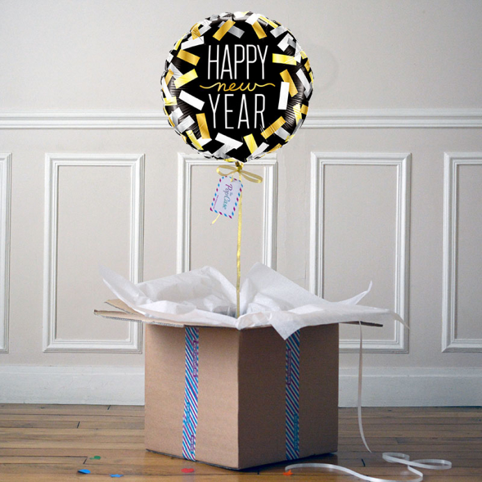 Ballon Cadeau - Happy New Year - Cotillons