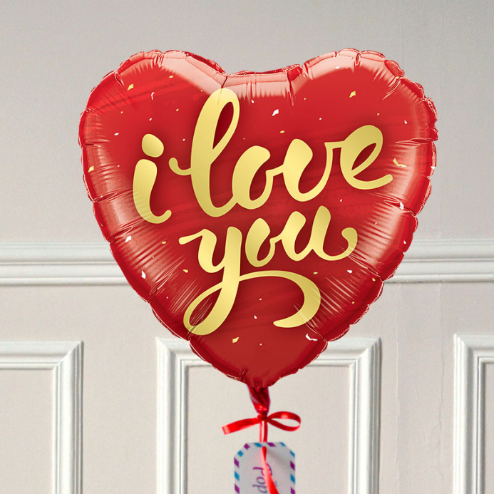 Ballon Cadeau I Love You - The PopCase