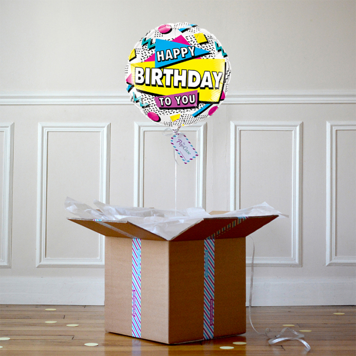 Ballon Cadeau - Happy Birthday 90