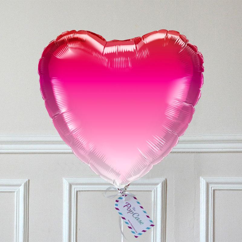 Ballon Cadeau - Coeur Ombré Rose - The PopCase