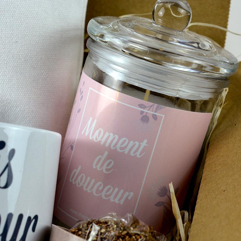 Coffret Cadeau - Maman je t'aime - Bougie