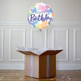 Ballon Cadeau - Happy Birthday Papillon - The PopCase