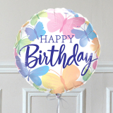 Ballon Cadeau - Happy Birthday Papillon GP - The PopCase
