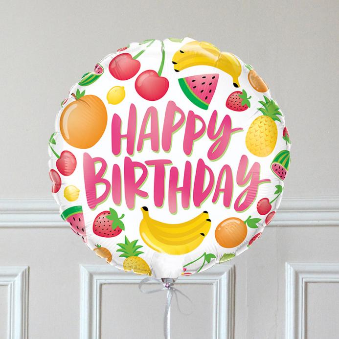 Ballon Cadeau - Happy Birthday fruit - The PopCase