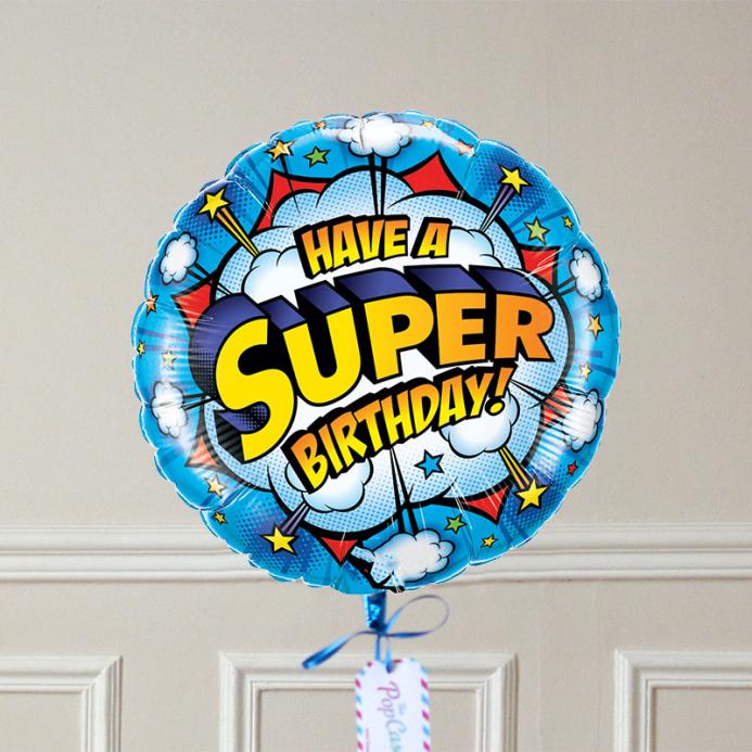 Ballon Cadeau - SUPER Birthday - The PopCase
