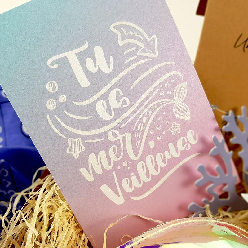 Box Surprise - Tu es Merveilleuse - Carte