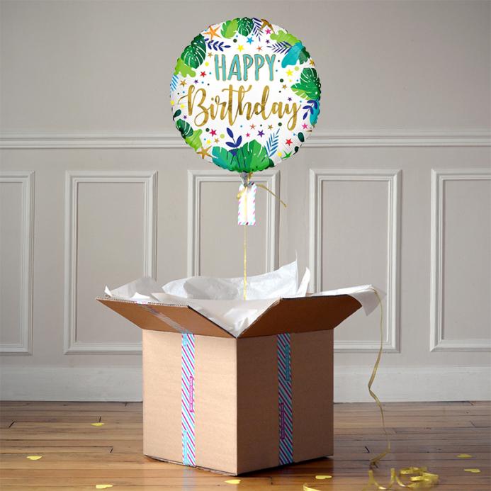 Ballon Cadeau - Happy Birthday Jungle - The PopCase
