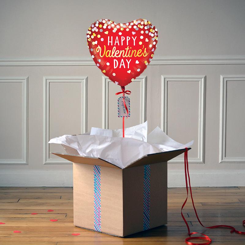 Ballon Cadeau - Saint Valentin