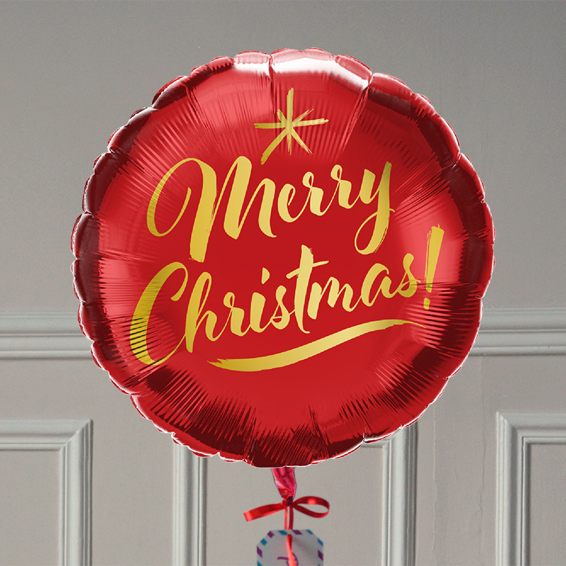 Ballon Cadeau - Merry Christmas Rouge GP - The PopCase
