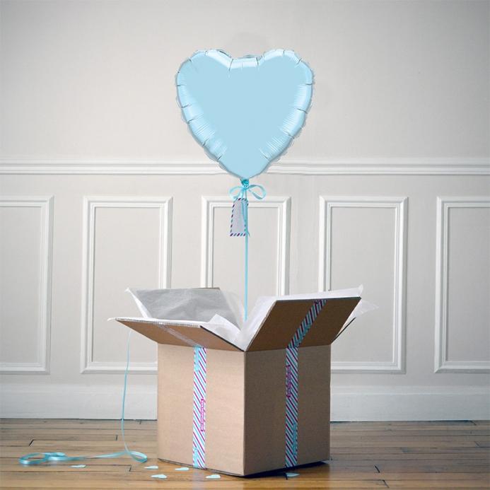 Ballon Cadeau Coeur Bleu Pastel - ThePopCase
