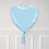 Ballon Cadeau Coeur Bleu Pastel - GP - ThePopCase