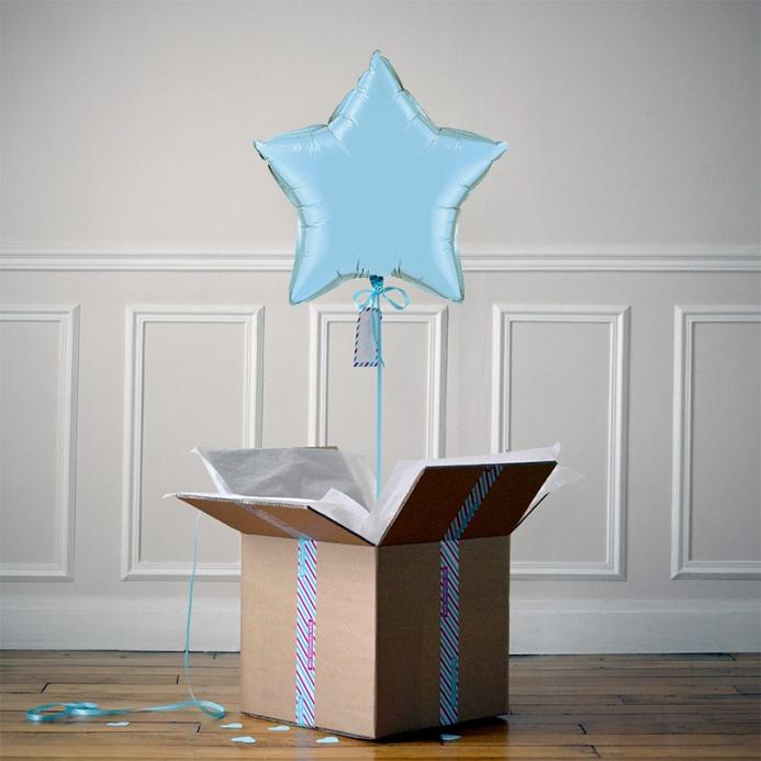 Ballon Cadeau Etoile Bleue Pastel - ThePopCase