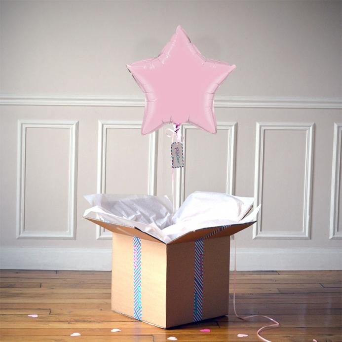 Ballon Cadeau Etoile Rose Pastel - ThePopCase